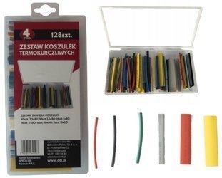 Zestaw rurek termokurczliwych 128szt kolorowe