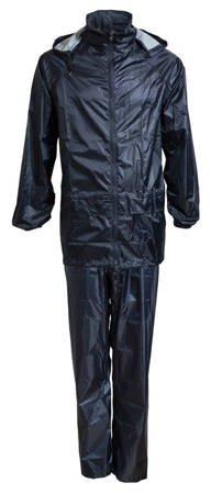 Bagażowy zestaw przeciwdeszczowy kurtka + spodnie rozmiar XL granatowy