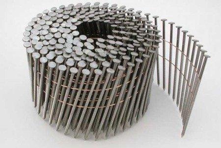 Gwoździe bębnowe na drucie 2,1 kąt 16° ryflowane galwanizowane długość 32mm