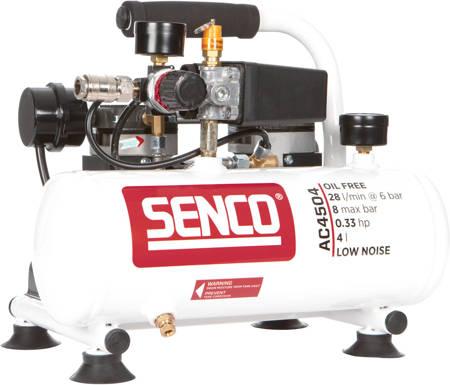 Kompresor SENCO MINI 58dB o pojemności 4,0L bezolejowy 230V