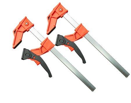 Ściski zaciski stolarskie 300 x 100 mm Dwupak stolarski typu Klik